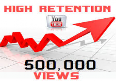 I AM LOOKING FOR SOMEONE THAT CAN DO 500K YT VIEWS NON DROP