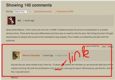 Link NOT AT THE END Blog Comments ASAP