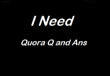 I am looking for Quora Q and Ans in low price