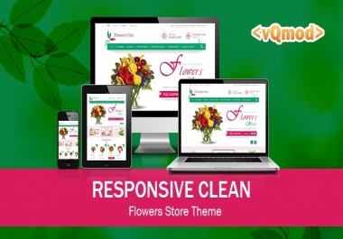 looking for opencart theme flower theme
