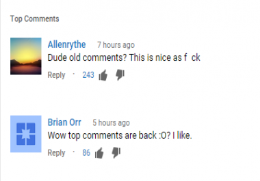 Comment likes For youtube