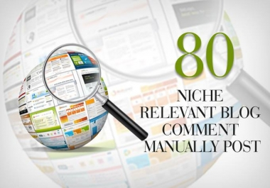 GIve me orders I will give you 80 niche relevant blog comments