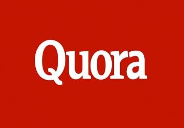 Need 4 Quora answers