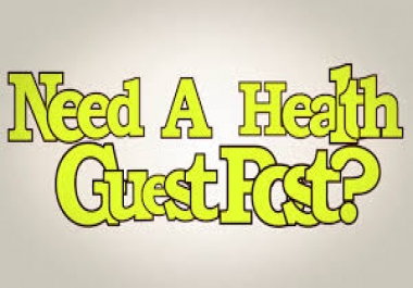 Need Guest Post on Real Health Blog with Traffic