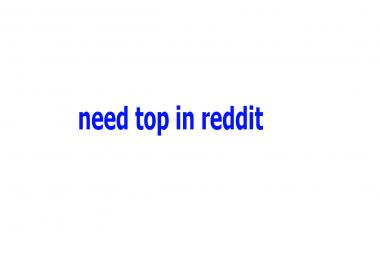need hot in reddit different topics