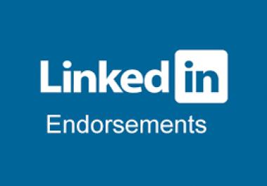 LinkedIn Endorsements for 2 accounts