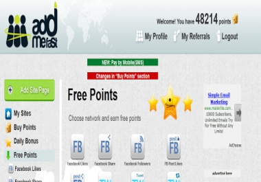 can give you 60000 addmefast points account