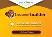 Install Beaver Builder Pro and Ultimate addons for Be... for $5
