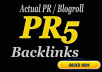 Guranteed 3 X PR5 HOMEPAGE Blogroll Backlinks