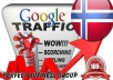 I send 1000 visitors via Google.no by Keyword to your... for $5