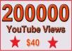 200000 Non Drop YouTube Views for $70