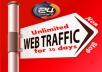UNLIMITED HUMAN TRAFFIC BY Google ? Facebook ? Twitter?Youtube?Pinterest etc to web site for 30 days