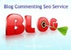 high PR Quality Blog Commenting 50 PR4 Dofollow on un... for $11