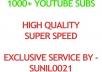 Real 1000+ Youtube Subs cribers