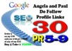 create VERIFIED 30 Angela and Paul Profile Links PR5 ... for $12