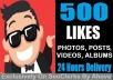 Start Instant 500 Likes In Photos Or 2000 Views In Videos For Social Media