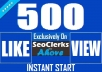 Get Instant 500 Likes In Posts Or 2000 Views In Videos For Social Media