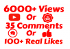 add 6000+ VIEW'S OR 50 COMMENTS OR 1500 LIKES