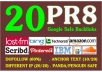 manually create 30 PR8 Backlinks for your SEO  for $5