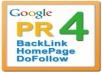 Add a PR4 DO FOLLOW Blogroll Link