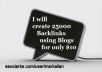 create 25,000 Blog Comments Unlimited Urls and Keywor... for $10