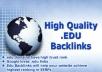 Give you relevant 100 .EDU SEO backlinks