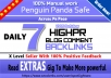 Mix of PBNs + Social Signals Backlinks Every 30 days
