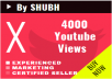 Instant Start 4000 Youtube Views Fastly