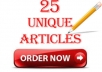write 25 UNIQUE Articles That Pass Copyscape Test On ... for $25