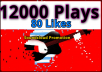 Add 12000 High Retention PIays and 80 Llkes 50 re post 5 C0mments