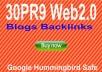 Provide 30 Do follow PR9 web2 Blogs from unique 30PR9 Authority websites Best for Seo