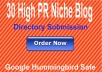 Provide 30 Blog Niche directory submission, best for ... for $5