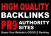 manually create 30 Safe PR9 Backlinks from PR9 Author... for $12