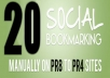 20+ High PR4-9 Social Bookmarks only for $2