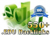 Create Manually 550+ EDU Backlinks to your Site for S... for $15