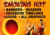 create a high quality website header or banner for $12