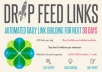 Drip feed 200++ backlinks per day for 30 days for $13