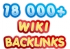 I will create 18000 contextual WIKI backlinks from ov... for $15