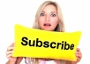 100+ Manually Youtube Subscribers Promotion Package
