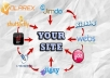 do MANUALLY a seo linkwheel with 1 high pr web blogs to your website or video
