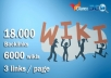 do 18000 contextual backlinks from 6000 WIKI pages in... for $12