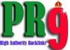 manually Create 10 High QUALITY PR9 Backlinks