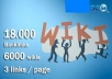 I will do 18000 contextual backlinks from 6000 WIKI p... for $20