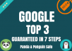 GOOGLE  TOP 3 GUARANTEED - XMAS 50 OFF