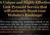 I will create Ultimate Link Pyramid with over 100 Web... for $20