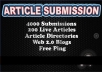 I will spin and Submit to 4000 Article Submission Dir... for $15