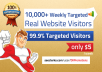 deliver 10,000 weekly TARGETED real human visitors to your website