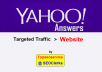 Updated on 2017 - Promote your website with Yahoo Answers