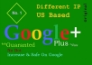 give you 450 US base Google Plus Circle Follow for $5