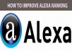 Get your site on TOP 50 Alexa ranking sites by Manually not in software